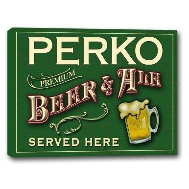 Perko Canvas (PERKO Beer & Ale Stretched Canvas Sign - 16