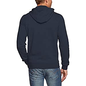 Nike Men's Club Swoosh Full Zip Fleece Hoody, Dark Obsidian, M