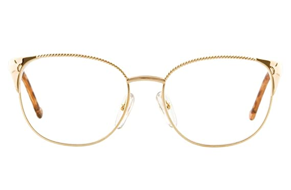 16968355fe3 Christian Lacroix Retro Romance Clear lens - Gold metal frame glasses Women  Gold-One Size  Amazon.co.uk  Clothing