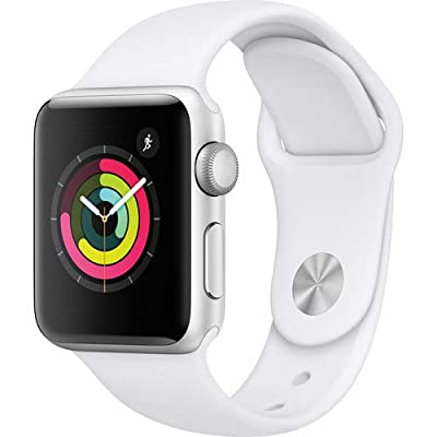 Apple Watch Series 3 38mm Smartwatch MTEY2LL/A (GPS Only, Silver Aluminum Case, White Sport Band)