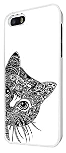 554 - Cool Aztec Cat Cute FunkyDesign For iphone 5 5S Fashion Trend CASE Back COVER Plastic&Thin Metal