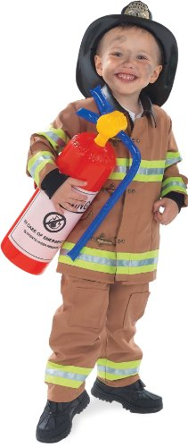 Firefighter Tan Child Costume 8 to 10 (Firefighter Girl Costumes)