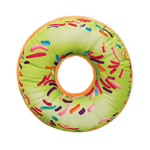 - Qingell Round Doughnut Back Stuffed Cushion Throw Pillow Plush Play Toy Doll for Office Chair Car Seat