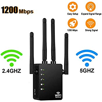 WiFi Range Extender Signal Booster WiFi Extender Repeater Wireless Internet Access Point Amplifier 300Mbps up to 750sq.ft Coverage for 15 Devices Compact Wall Plug Design Easy Set Up