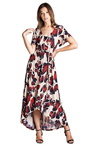 Buy belted faux wrap hi low dress - 1