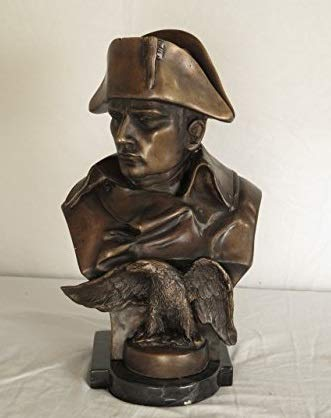 Artist Signed Bronze Male Patriot Bust w. Eagle Statue On Marble Base Model JI-A4827-ACM ~ New
