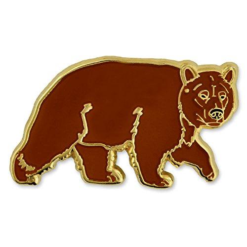 PinMart Brown Grizzly Bear Wild Animal Enamel Lapel Pin ()