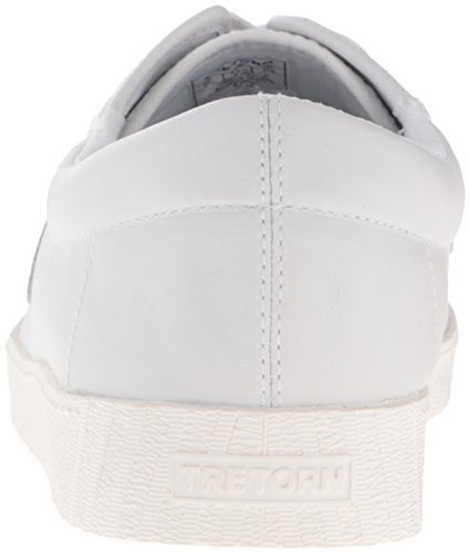 Tretorn Mens Nylite2 Plus Kant-up Leder Tennis Sneaker Wit / Wit / Wit