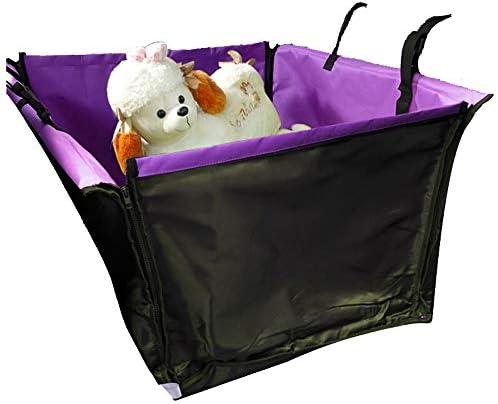 ペットシートカバー ペットの後部座席の保護マット防水アンチスクラッチカーアンチ汚いトランクマット (Color : Purple, Size : 50x35cm)