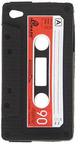 SANOXY Silicone Skin Black Rubber Soft with Cassette Tape Design Cover Case for - Case Iphone Tape 4s Cassette