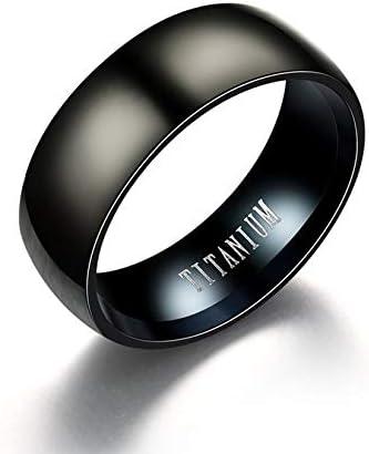 クラシックデザインラウンドアークチタン鋼男性男性リングエレガントな指輪