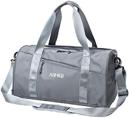 スポーツジムバッグ防水旅行ダッフルバッグフィットネスヨガ旅行女性ハンドバッグ-二重層旅行バッグドライウェット分離パッケージユニセックス
