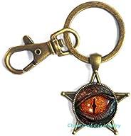 Dragon Eye-Handmade Key Ring Keychain,Dragon Eye Art Key Ring, Bridesmaid Jewelry-#211