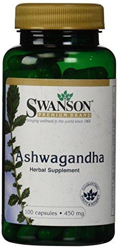 Swanson Premium Ashwagandha Powder 450 mg 100 Gelatin Caps