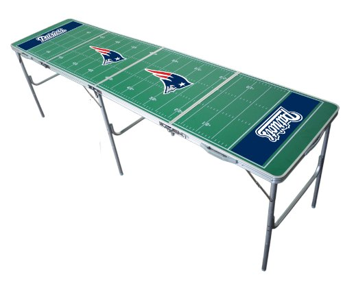 New England Patriots 2x8 Tailgate Table by Wild Sports