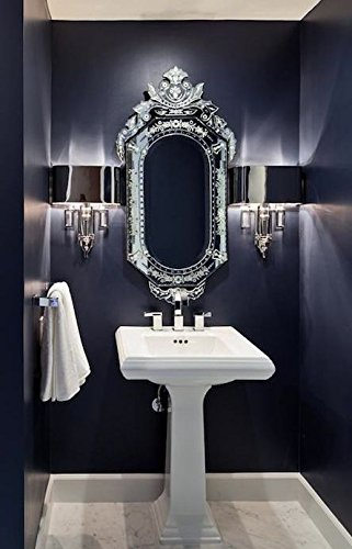 Buy Venetian Design Glass Mirror For Wash Basin With 2 Photo Frames