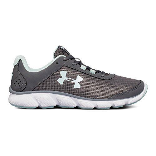 Under Armour Women's Micro G Assert 7 Running Shoe, Graphite (102)/White, 8.5