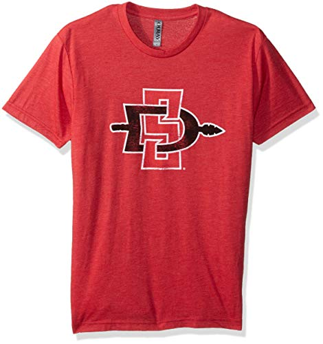 NCAA San Diego State Aztecs Men's Tri Blend Short Sleeve Tee, Vintage Red, Large (San Diego State University Colors And Mascot)