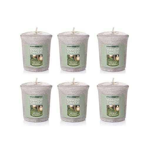 - Yankee Candle Lot 6 Holiday Bayberry Votives