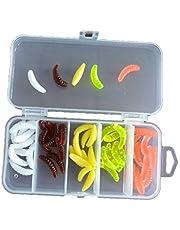 Panamami 50PCS 2 cm Maggot Grub Baits Zacht lokaas Geur Wormen Glow Vissen Lokken Kunstmatige Lokken Accessoires Voor Outdoor Vissen - Multi kleuren