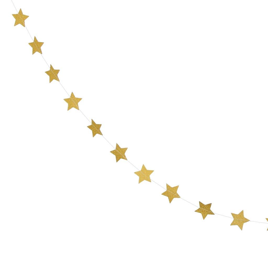 MagiDeal Guirlande Etoile Banderoles Jaune Papier Suspendus pour Parti Mariage Ext/érieur Bricolage Photographie D/écor 5m
