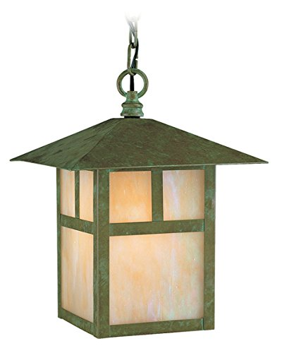 - Livex Lighting 2142-16 Montclair Mission 1-Light Outdoor Chain Hang, Verde Patina