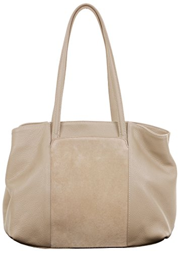 Made Primo Panel Includes Light Leather Textured with Handle Bag Front Sacchi® Beige Storage Handbag Long Large Suede Shoulder Italian Pocket Hand Branded Protective a Bag grgXWT