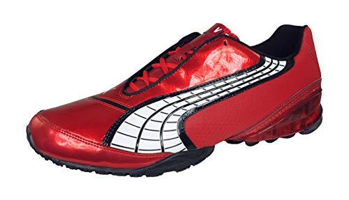 PUMA V1.10 Viz Trainer Mens Astro Turf Soccer Sneakers/Boots-Red-9.5