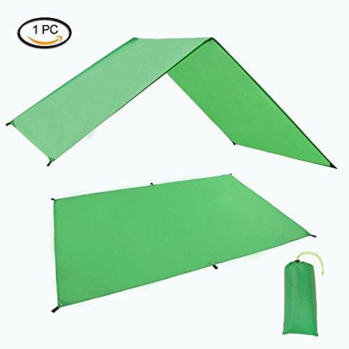Geertop Waterproof Lightweight Tent Floor Footprint Tarp Rain Fly Shelter Sunshade Mat, Green, 4'7'' x 6'11'' by Geertop