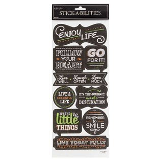 Chalk Inspirational Stickers