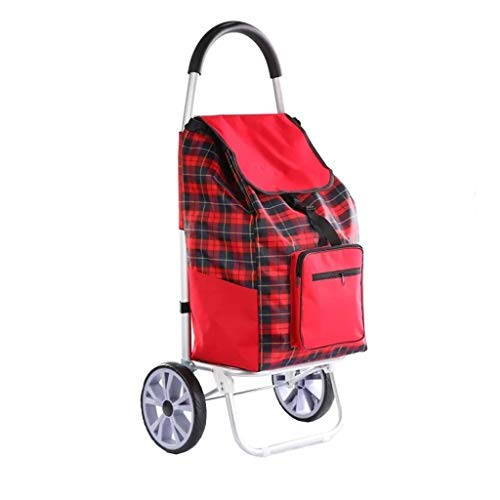 Chooseator Folding shopping cart shopping cart aluminum alloy household small cart, shopping cart supermarket portable stroller, trolley case auxiliary mobility with support rod and zipper p (Narita Mini Shopping Cart)