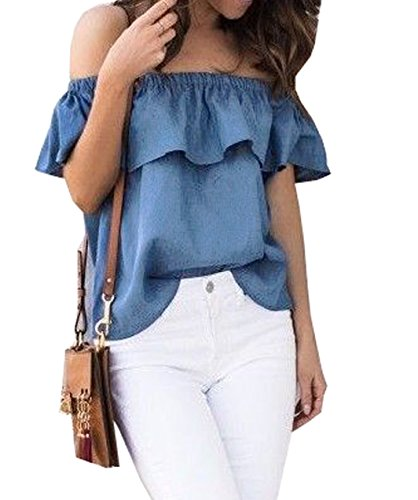 ICOOLTECH Womens Shoulder Blouses Casual