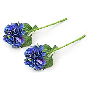 DII 2 Piece Artificial Hydrangea - Natural Silk Flowers For Bridal Bouquet, Home Decoration, DIY, Arts & Crafts Project, Garden, Office Decor, Centerpiece Décor - Blue 17