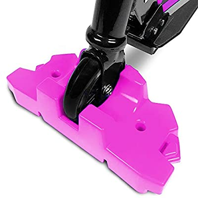 50 Strong Scooter Stand - Fits Most Scooters - Interlocking Offset Extra Stable Base - Pink: Home & Kitchen