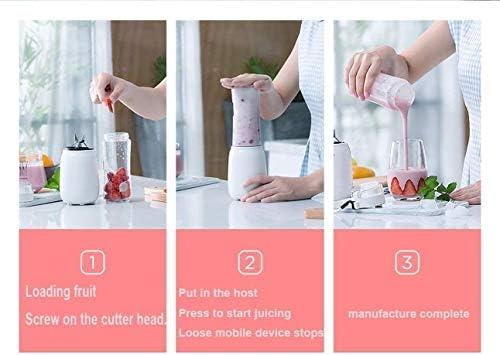YJTGZ Portable Presse-Agrumes Tasse mélangeur Fruits Smoothie mélange Alimentaire Interrupteur sécurisé magnétique mélangeur de Fruits électrique pour Superbe mélangeur à Main