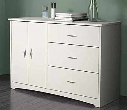 Amazon.com: Chester Drawers - Soft White Wood Three Drawer ...