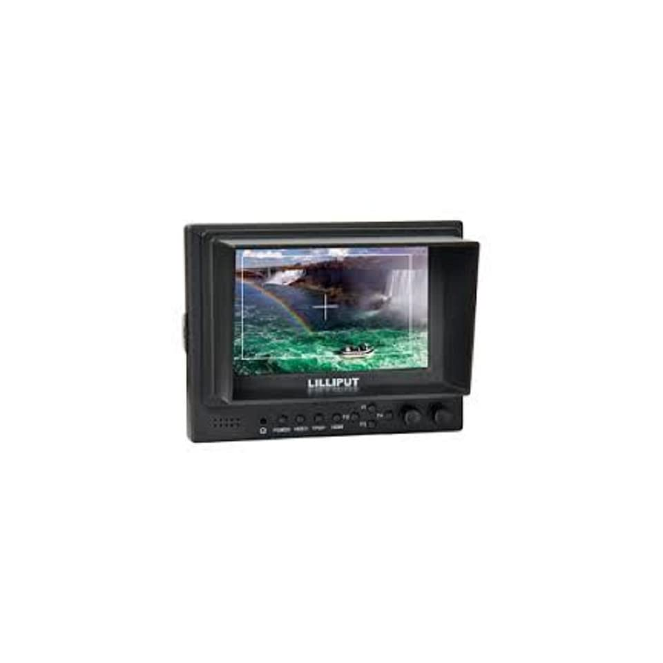 Professional LILLIPUT 5 569 / O Lilliput 569GL 50NP/HO/Y Color TFT LCD Monitor With HDMI, YPbPr, AV Input HDMI Output / With F 970 & QM91D Battery Plate + Mini Stand Base + Sun Shade Cover