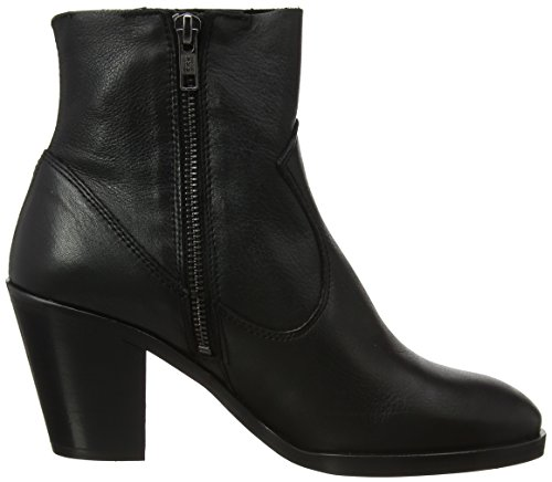 Black Women's Leather Angie Black Boots Office qHtUTFT