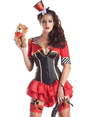 Party King Sexy Lion Tamer Body Shaper Outfit Circus Halloween Costume