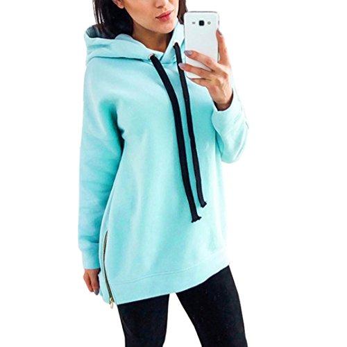 Women Sweatshirt, Realdo Long Sleeve Loose Hoodie Jumper Hooded (Hooded Thongs)