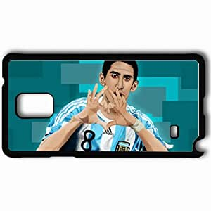 Personalized Samsung Note 4 Cell phone Case/Cover Skin Angel di maria vector by sologfx dash Black