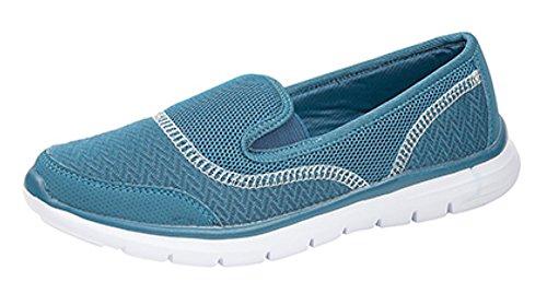 Dek - Zapatillas de nordic walking de Tela para mujer verde azulado