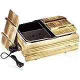 電気式 おでん鍋 電気 保温 木枠 卓上 家庭用 おでん鍋 フッ素樹脂加工 おでん