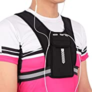 Universal Running Vest, Phone Holder with Adjustable Waistband, Elastic Running Backpack for Jogging Hiking Cy
