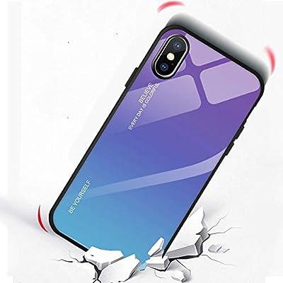 Funda de vidrio templado degradado para iphone X XS XR XS Max 6 6S