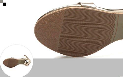 alto Confortevole oro Dolce Ms Summer Moda Elegante Round Traspirante Moda mancante Sexy Punta Head Tacco Sandali Jazs® 8qzOa