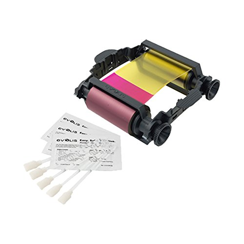 Evolis YMCKO Color Ribbon - 100 prints For Badgy1 Printers (VBDG204EU) ()