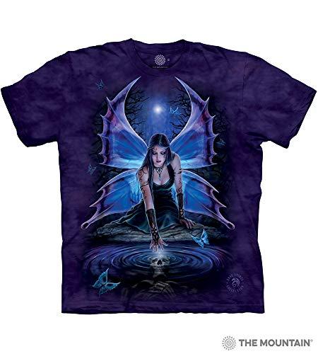 Gothic Fade T-shirt - The Mountain Immortal Flight Adult T-Shirt, Purple, XL