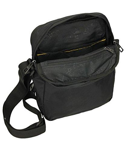 Bolso hombre bolsillo delantero (Gris) Negro