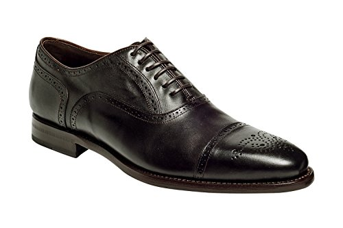 - Anthony Veer Mens York Oxford Semi Brogue Leather Shoes in Goodyear Welted Construction (11.5 D, Brown)